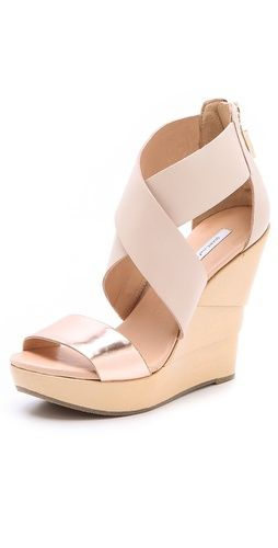 b9332658a1fde Diane von Furstenberg Opal Lacquered Wedge Sandals | clothes and ...