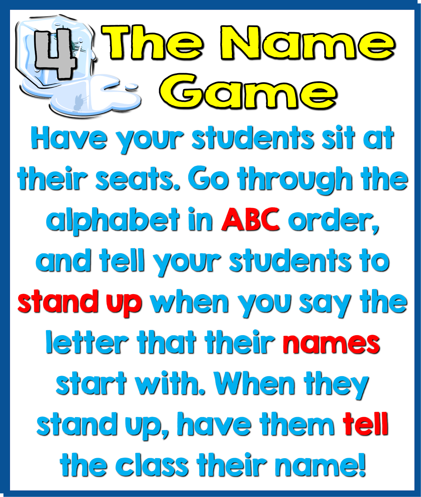 5 Fun Ice Breaker Activities For The First Day Of School