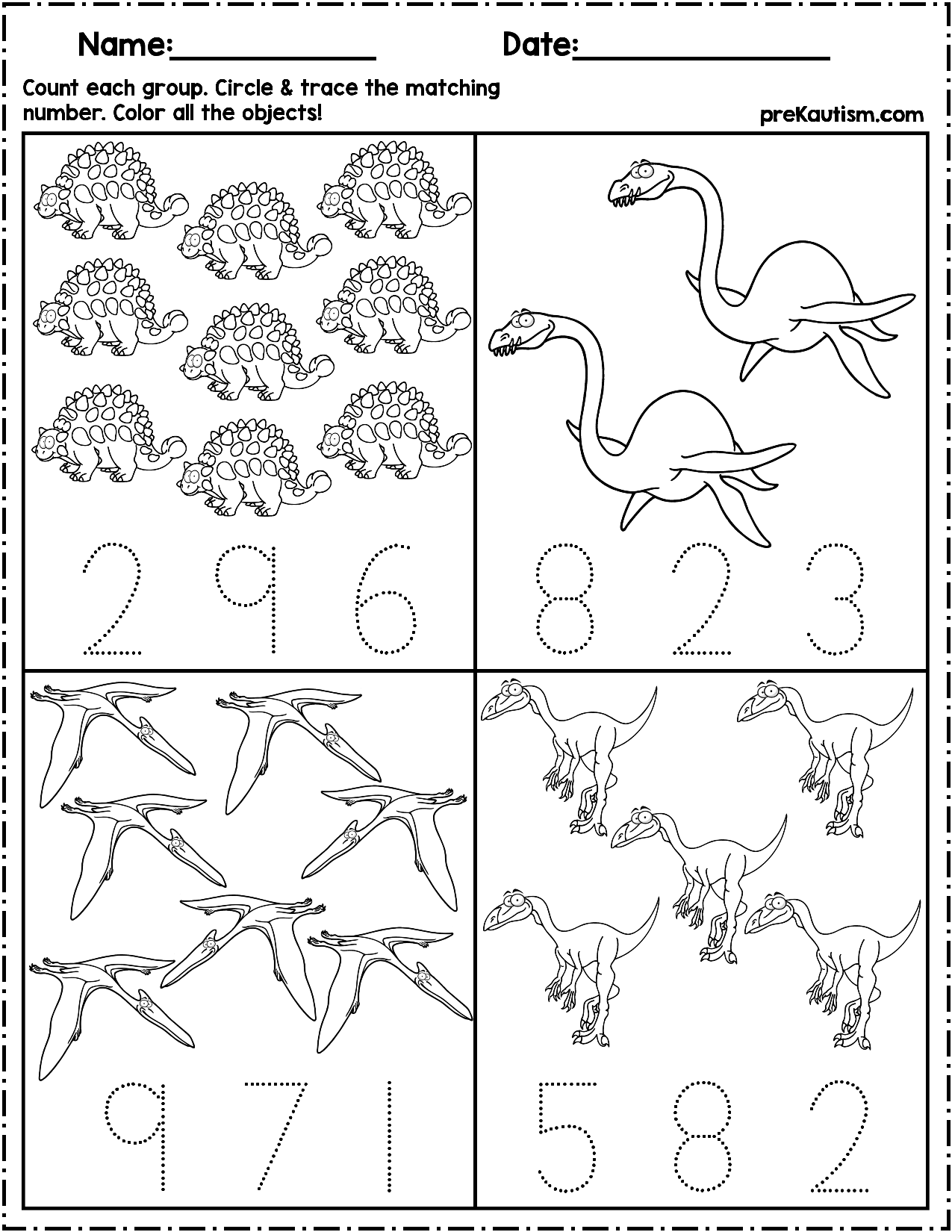 1 50 Use These Worksheets To Teach Quantity Counting And Number Writing Pack Inc Dinosaur Activities Preschool Dinosaurs Preschool Dinosaur Theme Preschool [ 1650 x 1275 Pixel ]