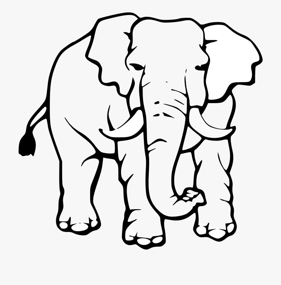 Elephant Black And White Clipart Free In 2021 Elephant Black And White Elephant Clip Art Animals Black And White