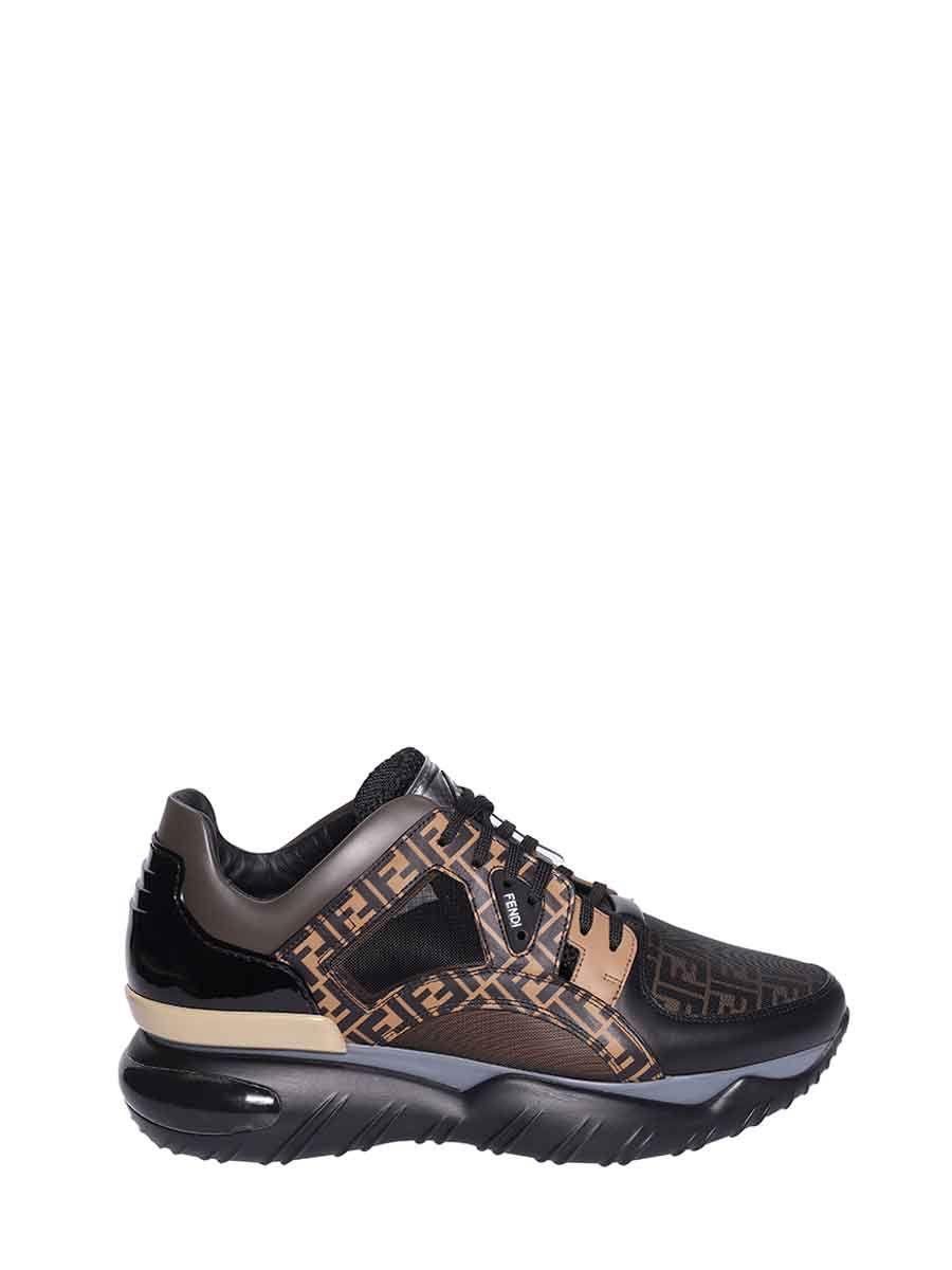 Fendi Monogram Running Sneakers In