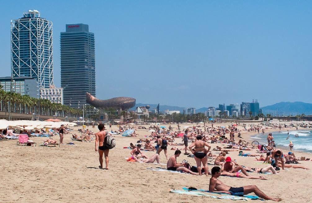 The Beach In Barcelona Spain Barcelona Spain Beaches