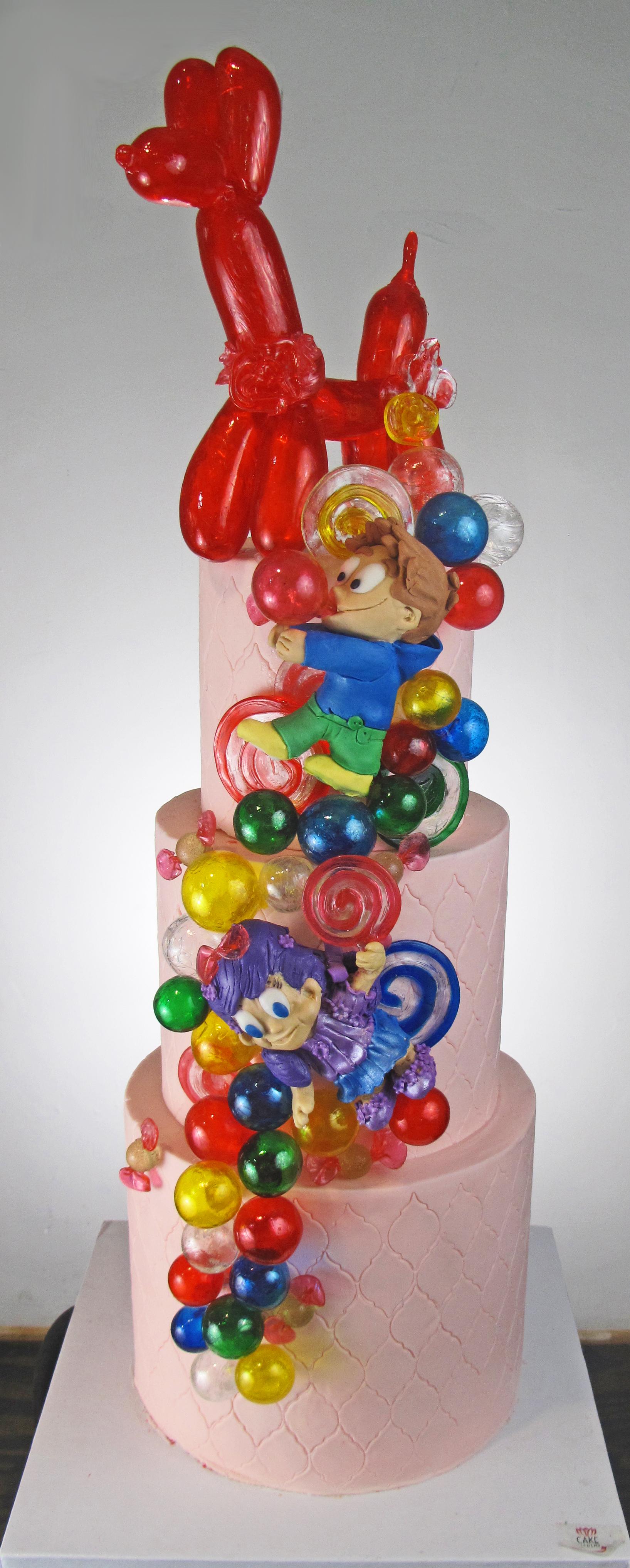 Blown Sugar Balloon Dog Kids Cake Bubbles Sugar Candy