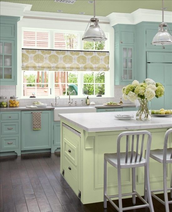 Greene And Greene Kitchen Cabinets: Using The BHG Color Finder I Painted My Kitchen!