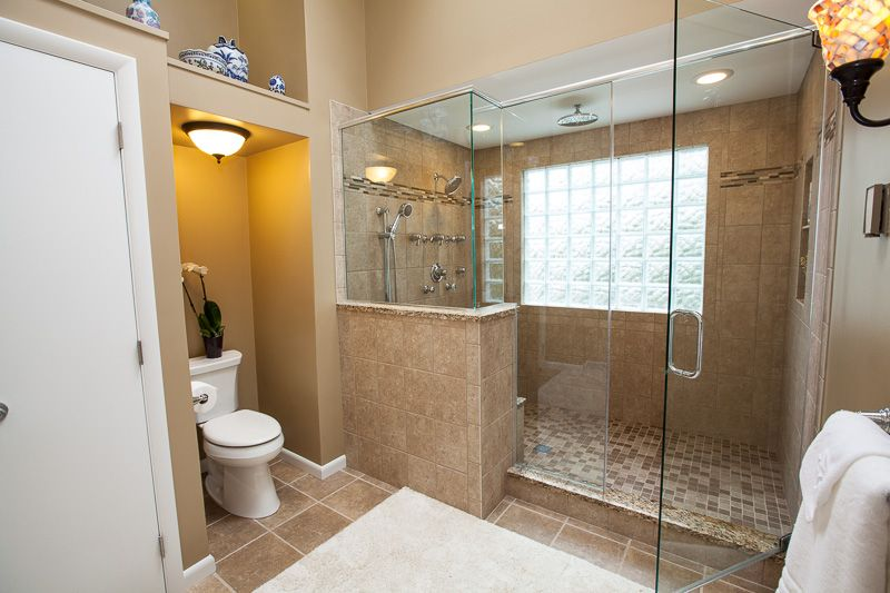 Renovated Master Bath To Remove Old Jacuzzi Tub And Enlarge Very Small Shower Bathroom Remodel Master Bathrooms Remodel Bathroom Remodel Designs