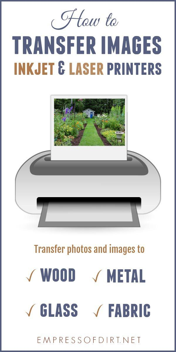How to Transfer Images to Wood Glass Fabric Metal | Empress of Dirt