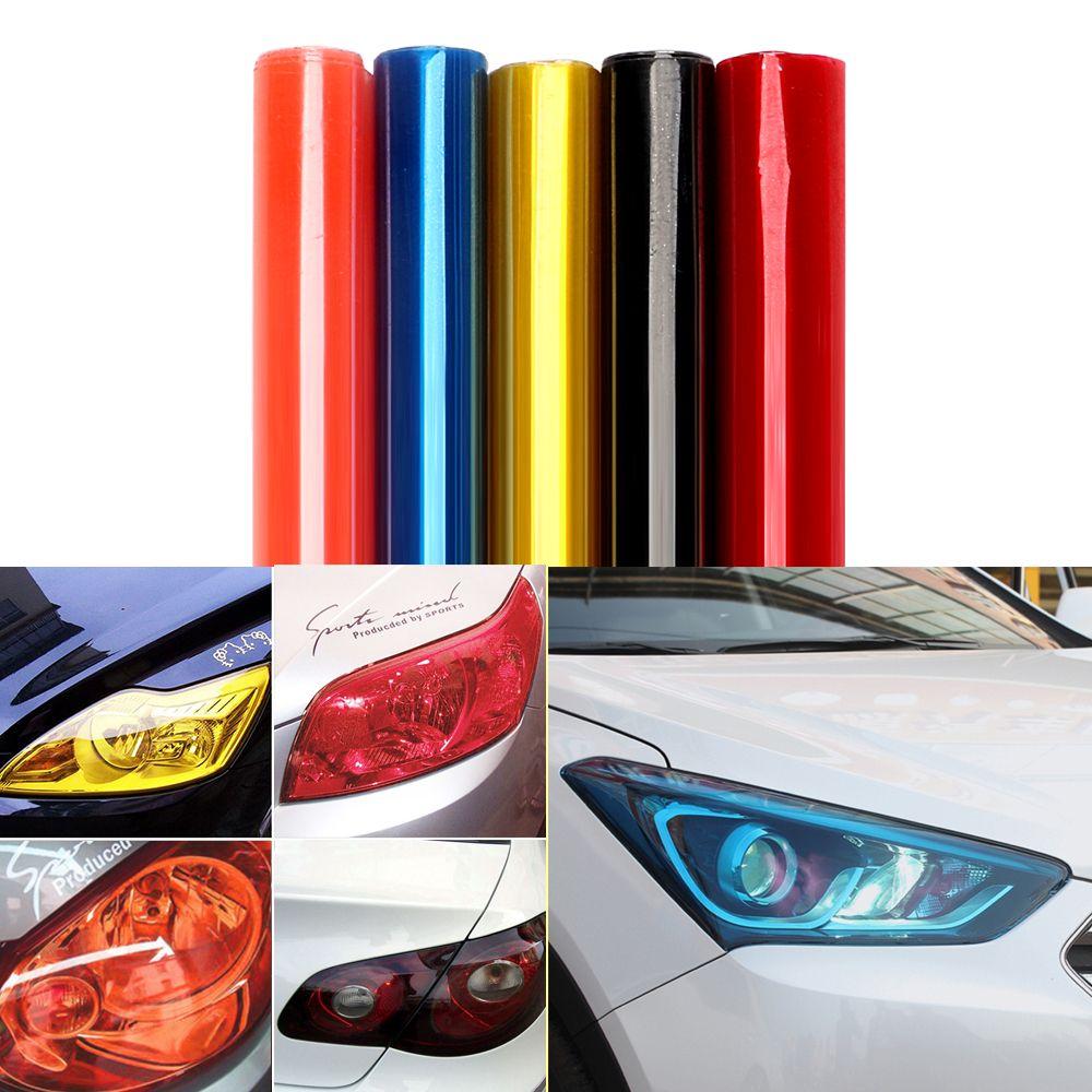 30cm 60cm Car Light Film Wrap Sheet Car Stickers Auto Headlight Taillight Tint Vinyl Film Cover Car Styling Exte Car Lights Car Headlights Exterior Accessories [ 1000 x 1000 Pixel ]