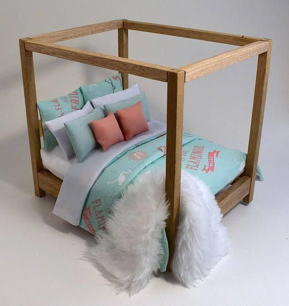 Bunk Bed wooden DOLLHOUSE Furniture miniature selfproduction kit 16 scale 12  Bunk Bed wooden DOLLHOUSE Furniture miniature selfproduction kit 16 scale 12