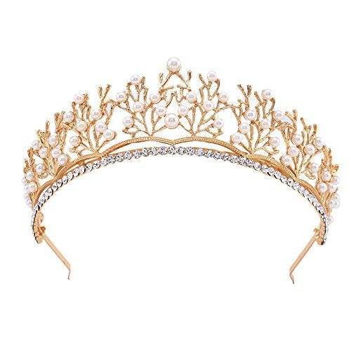TOOGOO(R) Wedding Bridal Rose Gold Crystal Rhinestone Pageant Tiara Crown Party Headband 8vnRG
