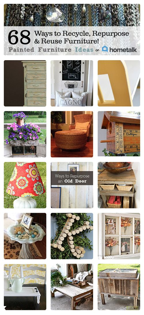 68 ways to recycle repurpose and reuse furniture for Reuse furniture ideas
