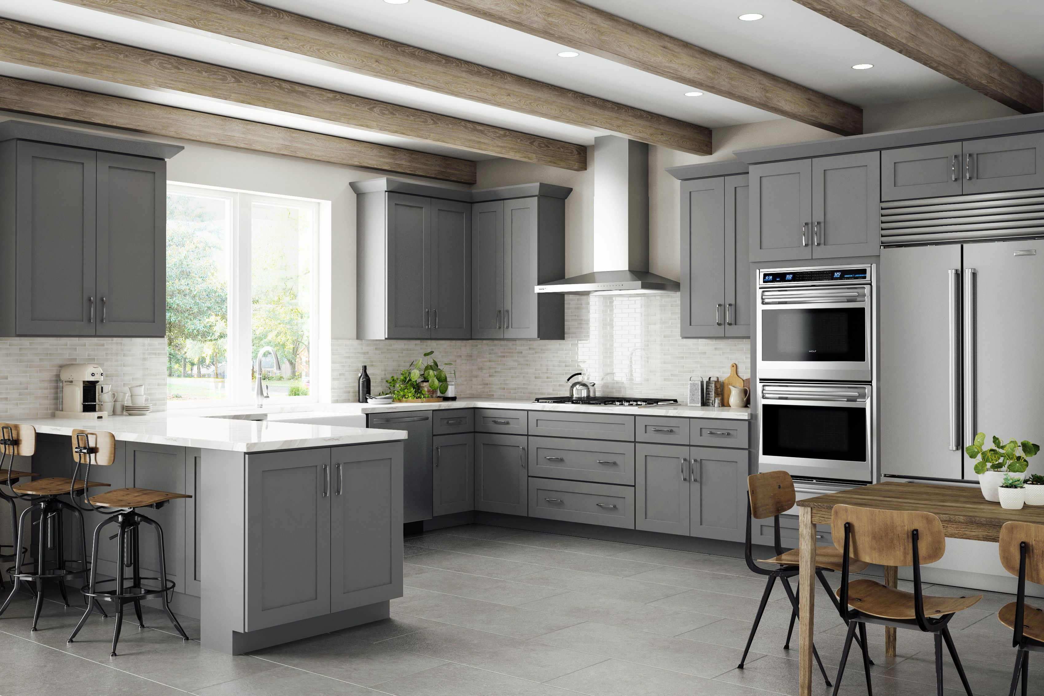 Grey Shaker Elite Kitchen Cabinets By Lily Ann Cabinets Rta