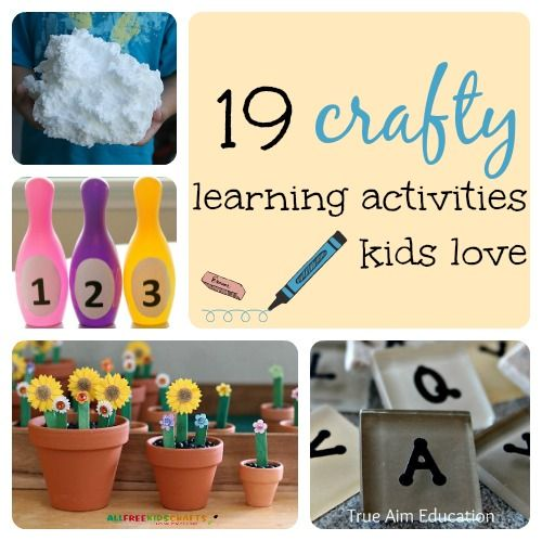 19 Crafty Learning Activities Kids Love - for Reading, Math, and Science!
