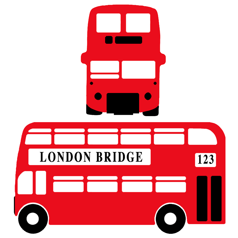 The London Bus Generic Logo Company Teacher signs, London