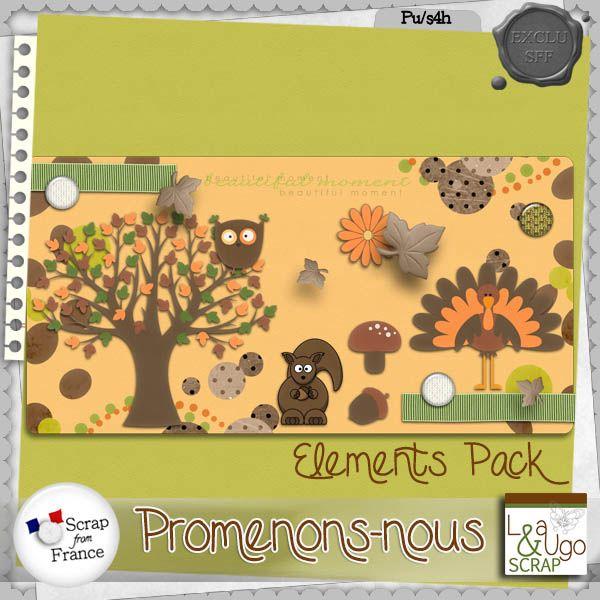 Kit Promenons Nous - Elements - by Leaugoscrap