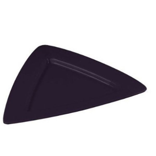 10 1/2 inch Triangular Flat Plate Blue/Case of 12