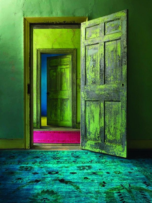 Abc Design Studio Whoa Bright Green Turquoise Rug And A Little Dash Of Pink
