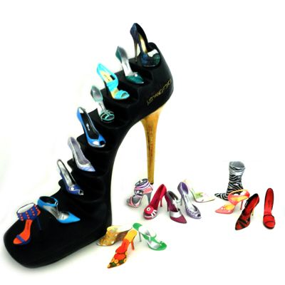 JUST THE SHOE Collection of glamorous miniature stiletto's #mini