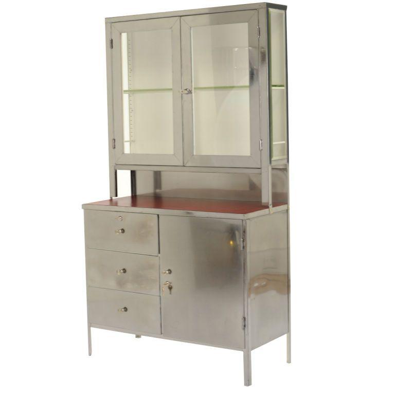 steel hoosier cabinet usa 1950 originally commissioned as medical rh pinterest com