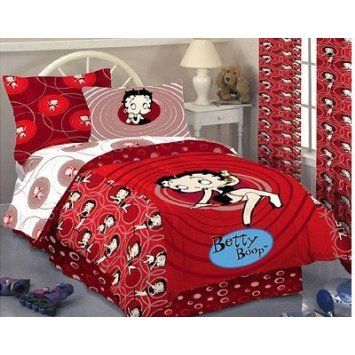 *BETTY BOOP ~ Vintage Style Full Sheet Set: Home U0026 Kitchen