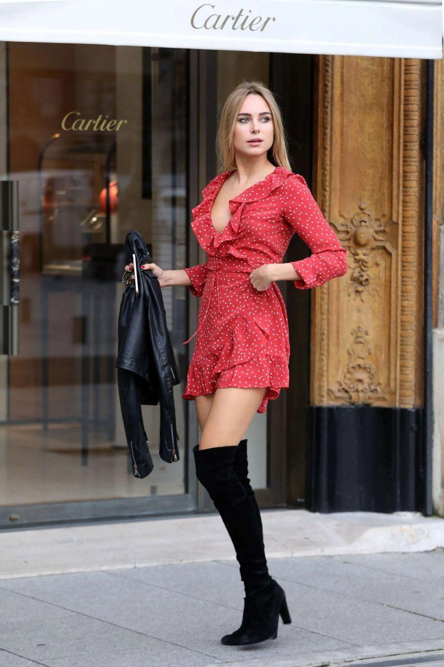 Kimberley Garner #Hothighheels | Red mini dress, Kimberley ...