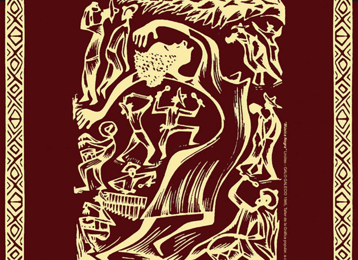 Imagen escogida por los elementos ilustrativos escogidos para representar la danza y la alegría de los ritmos africanos, los grafismos de apoyo y como estos complementan la imagen.