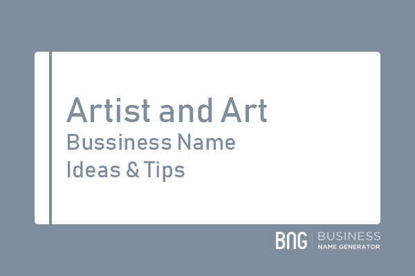 Artist And Art Business Name Generator Business Names Name Generator Artist Business