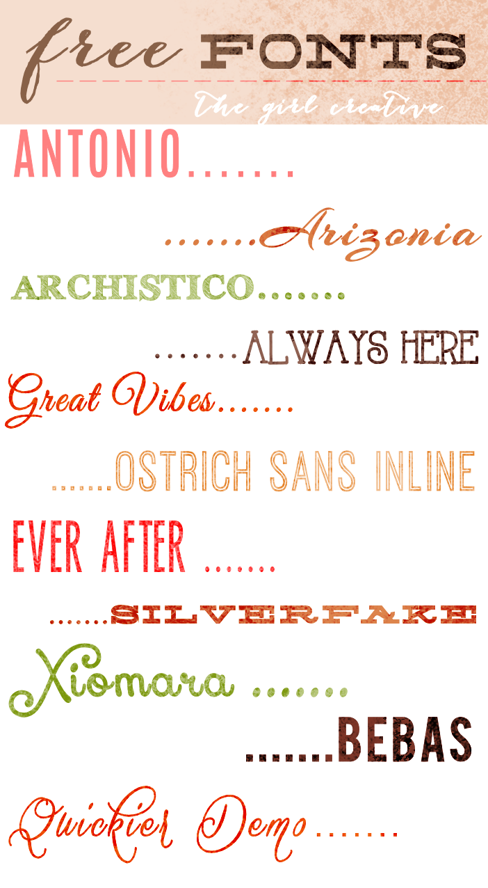 download free fonts the girl creative 11 free fonts w links - Free Holiday Pics