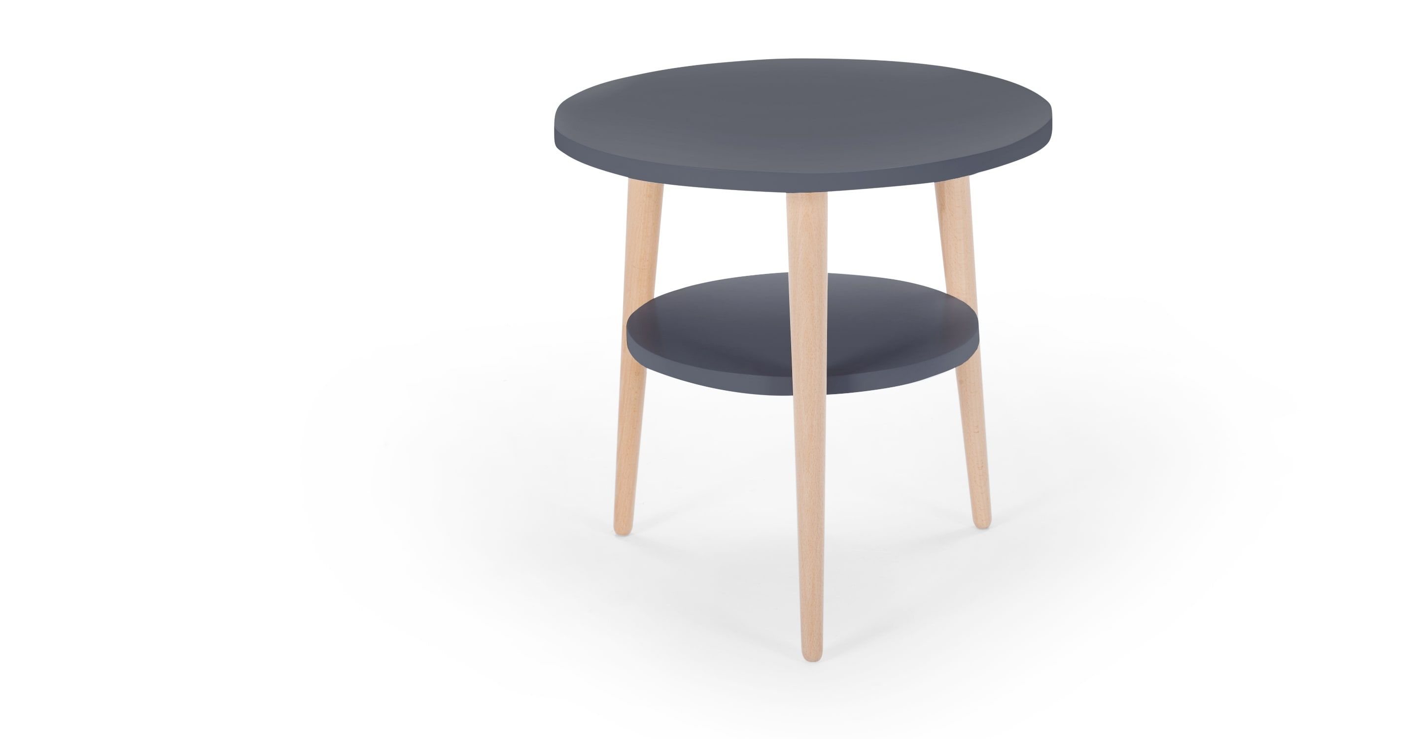 Marcos Side Table, Natural And Grey