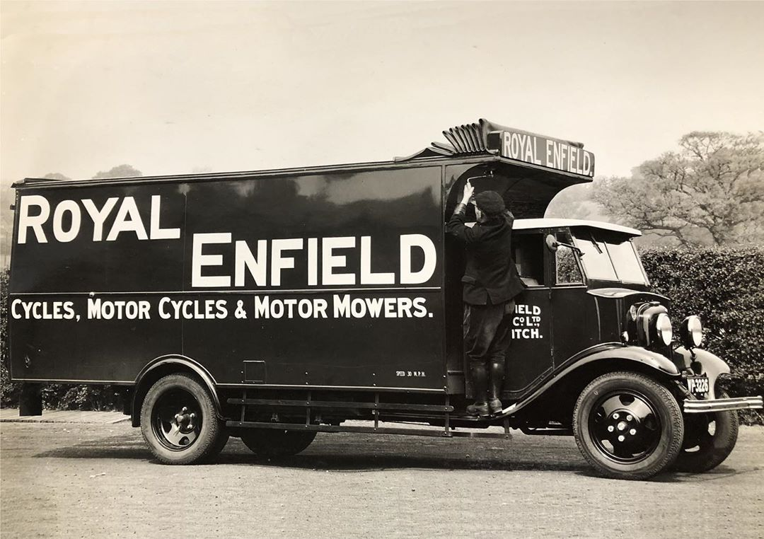 Photo of 1930s Royal Enfield delivery lorry