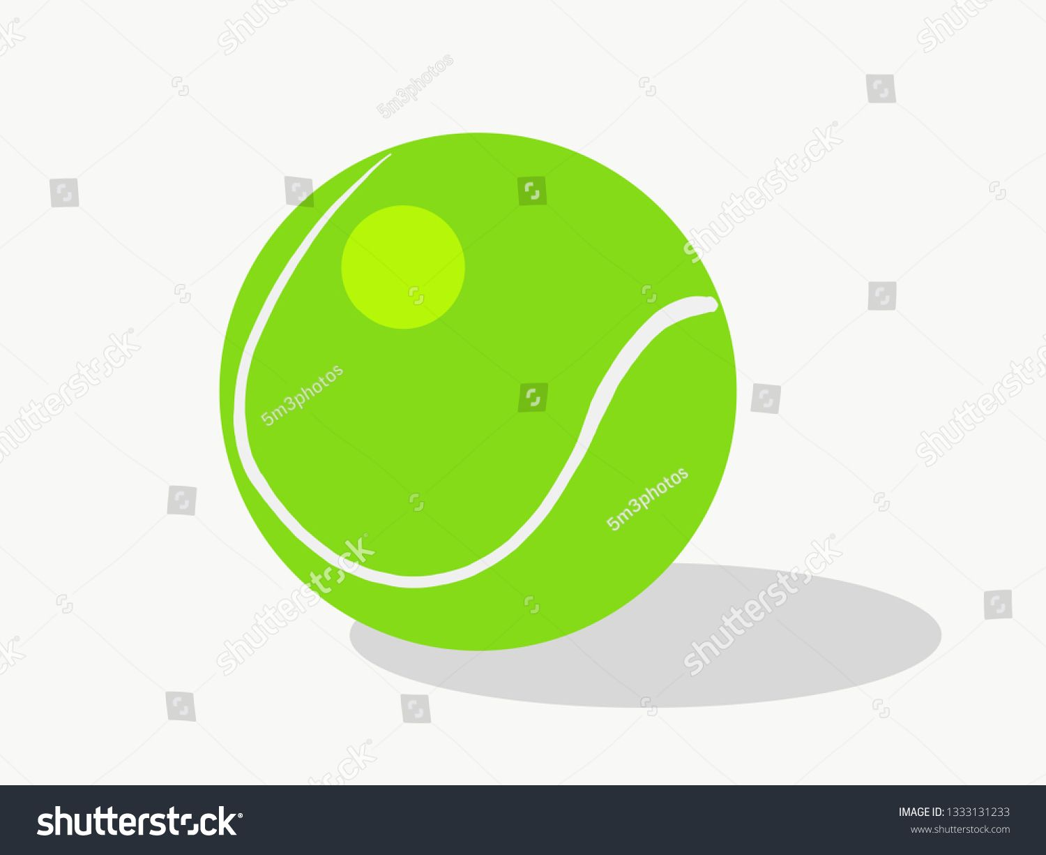 Tennis Ball Vector Illustration Isolated With Shadow Ad Sponsored Vector Ball Tennis Shadow Business Card Black Professional Business Cards Tennis Ball