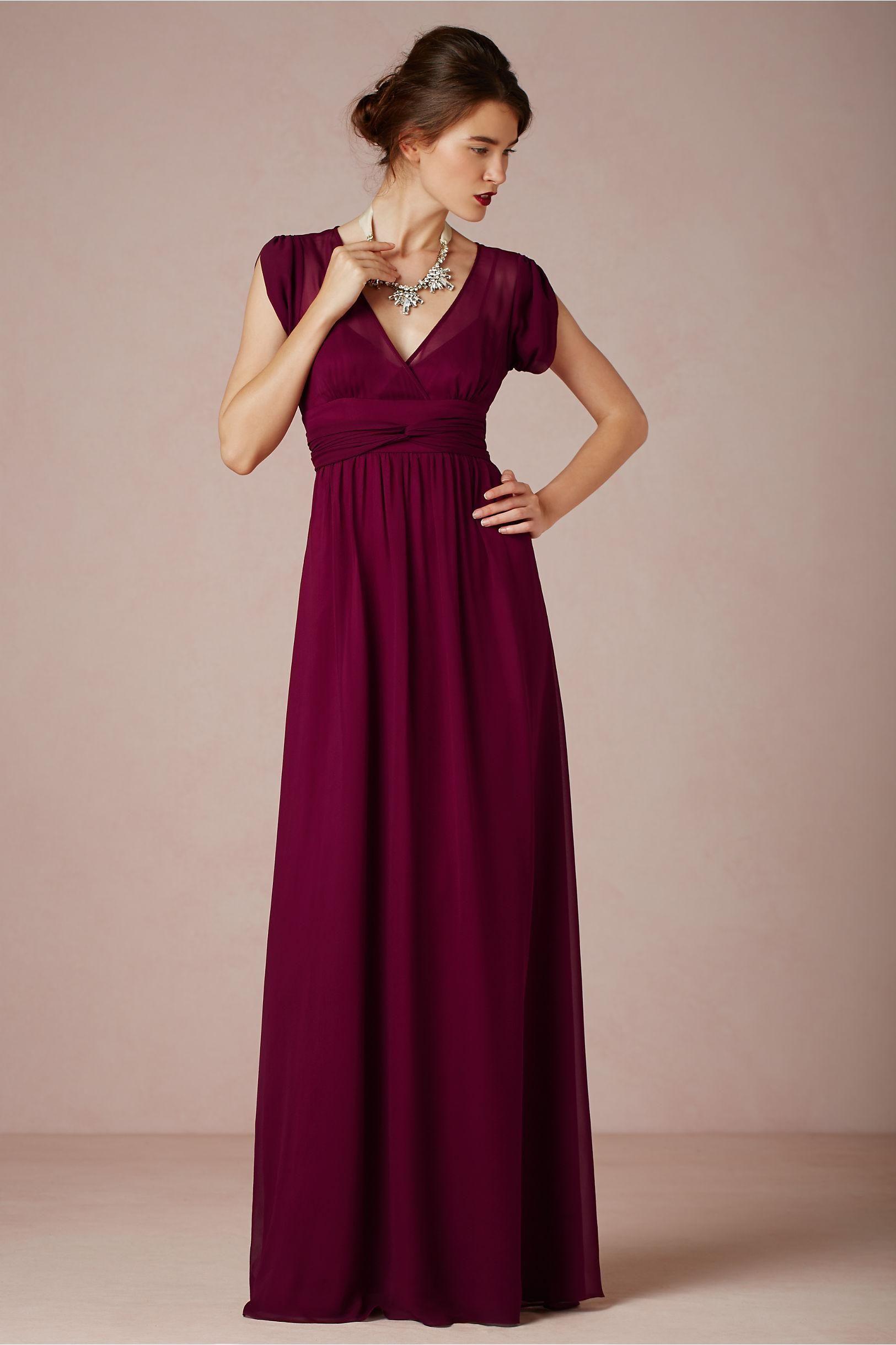21c80c43bc Ava Maxi Dress in Merlot from BHLDN | Red Wedding Ideas | Bridesmaid ...