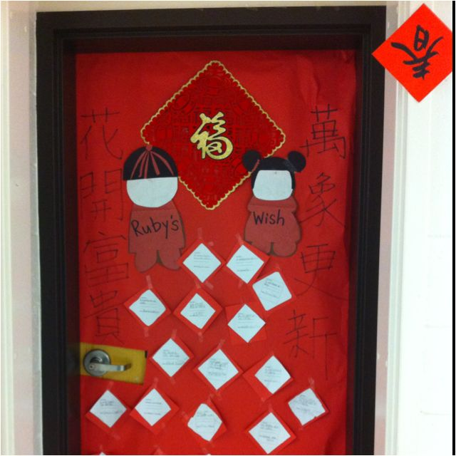Social Studies Classroom Door Decorations ~ Chinese new year door decoration classroom ideas