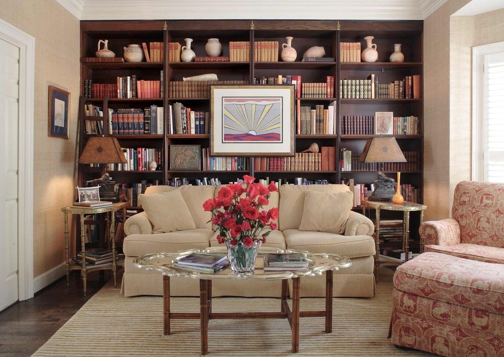 Dark Wood Built In Bookshelf Living Room Living Room Bookcase Bookshelves In Living Room Traditional Living Room Furniture