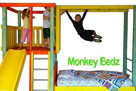 Kids Jungle Bed Childrens bed and indoor playground by MonkeyBedz   1650 00. Kids Jungle Bed Childrens bed and indoor playground by MonkeyBedz