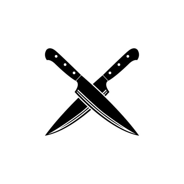 Cross Knife Vector Icon Free Logo Design Template Knife Chef Knives Png And Vector With Transparent Background For Free Download Di 2020