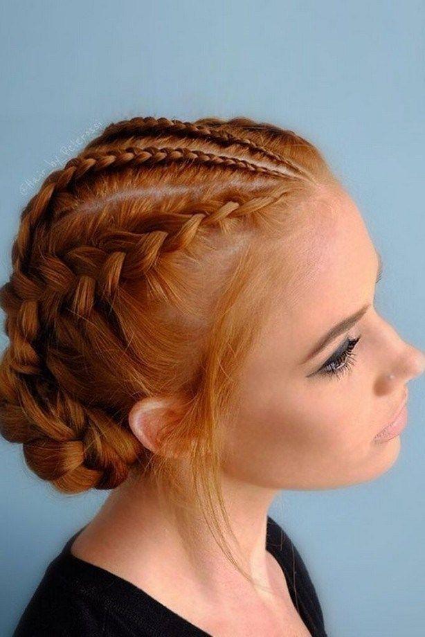 Burgundy Flowers Headscarf Braids For Thin Hair Hairstyles For Thin Hair Braided Hairstyles Easy