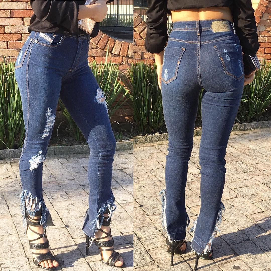 Calca Jeans Barra Franja Farm   Ideias fashion, Moda