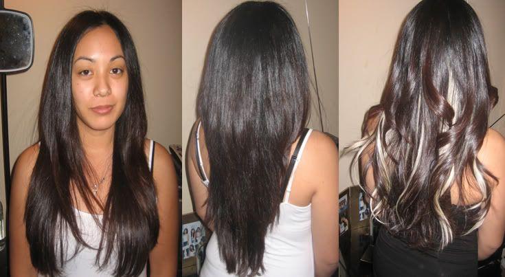 Dark Hair With Peekaboo Highlights
