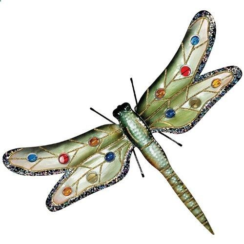 Design toscano oversized dragonfly metal wall sculpture outdoor wall art at hayneedle
