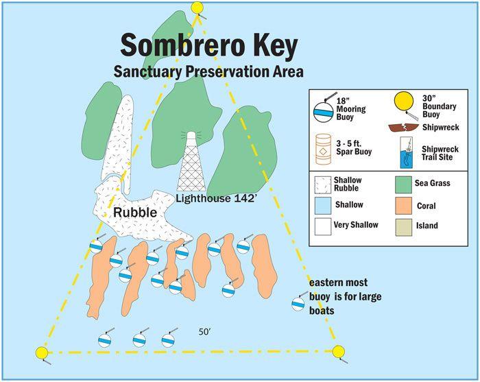 Marathon Florida Map.Map Of Buoys In Sombrero Key Sanctuary Preservation Area Marathon