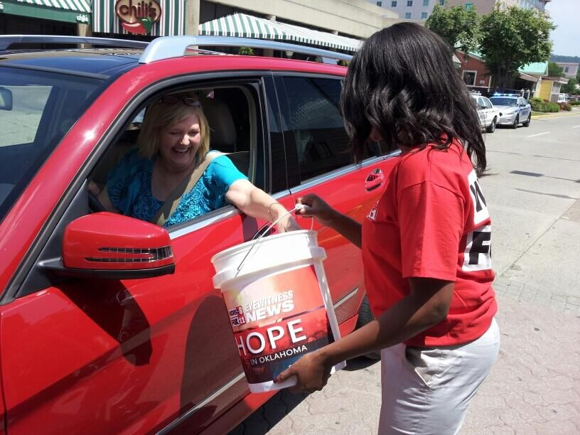 """@TaishaWCHS accepting donations as part of our """"Hope for Oklahoma"""" fundraising drive."""