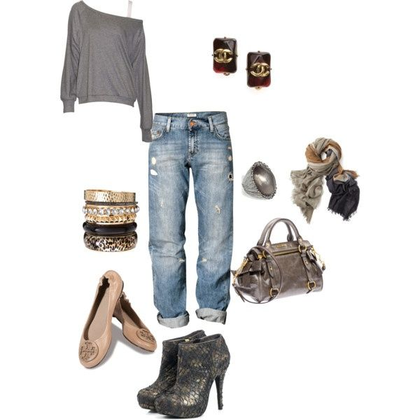 Relaxed Outfit Polyvore | Relaxed outfit out...heels or flats either way, super comfy ... | STY ...