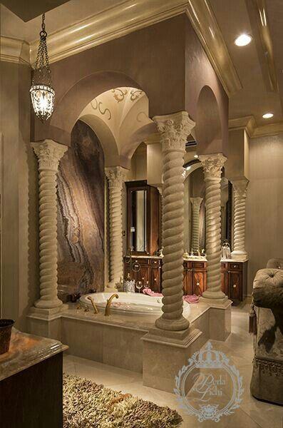 luxury interiors - interior design Just a dream Pinterest - baos lujosos