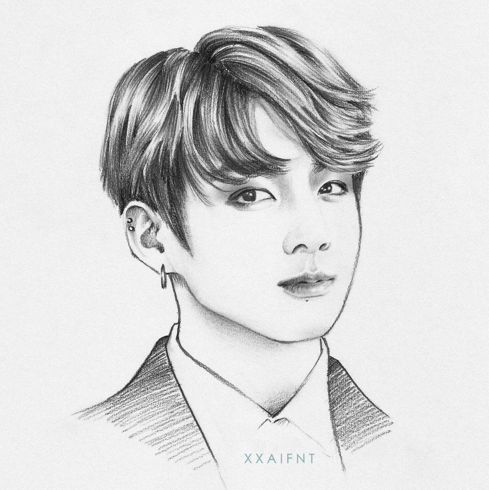 Jungkook Bts Drawings: Jeon Jungkook Fanart