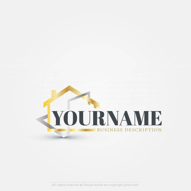 Make Your Own Vector House Logo Template