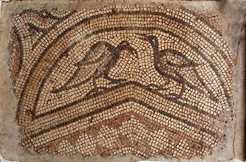 Detail, early Christian mosaic, now part of the collection at Fordham University
