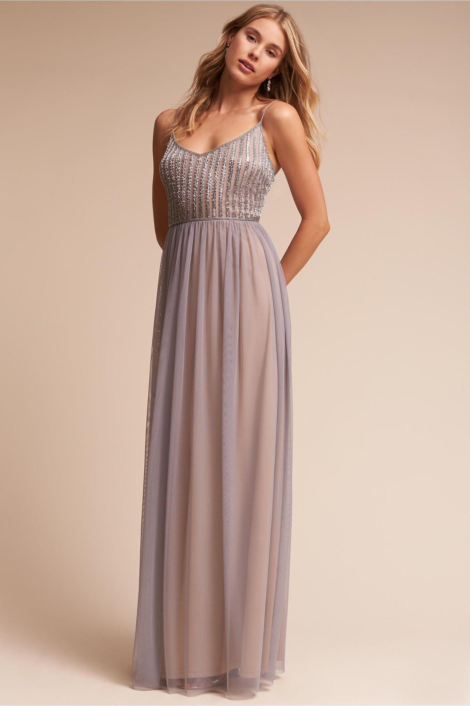 84fde12f823a BHLDN Silver Grey Laurent Dress in Bridal Party