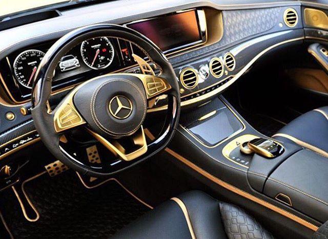 Gold Interior Of A S63 Amg Coupe Mercedes Mercedesbenz Benz