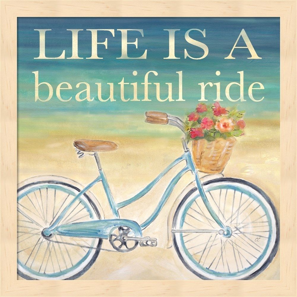 Cynthia Coulter \'Beautiful Ride I\' Small Framed Wall Art | Bikes ...