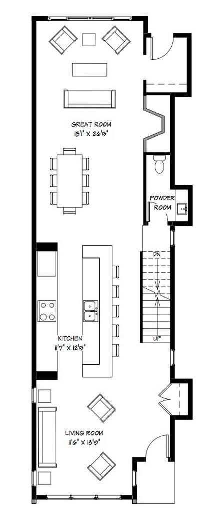 Planos Casa Dos Pisos Angosta Y Larga Diseño Arquitectura